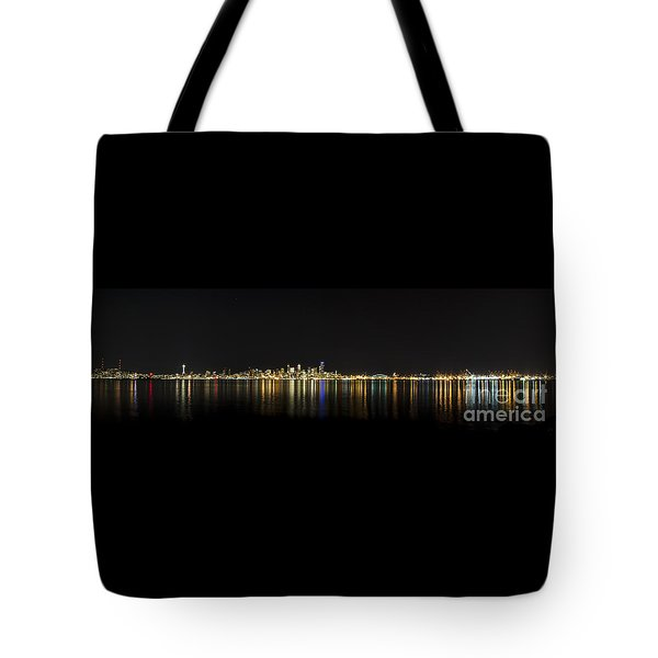 Seattle Washington Skyline From Alki Seacrest Park At 10mm Tote Bag