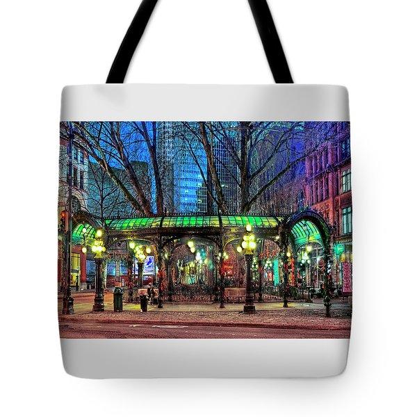 Seattle's Iron Pergola Tote Bag
