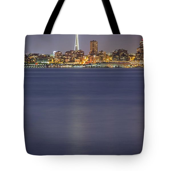 Seattle's Space Needle At Night Tote Bag