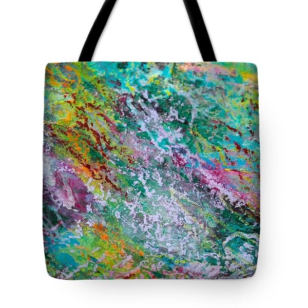 Seaweed And Spray Color Poem Tote Bag