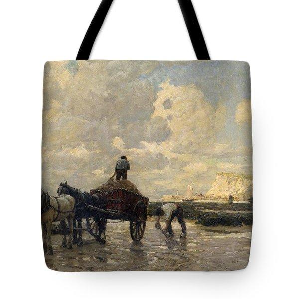 Seaweed Gatherers Tote Bag by Terrick Williams