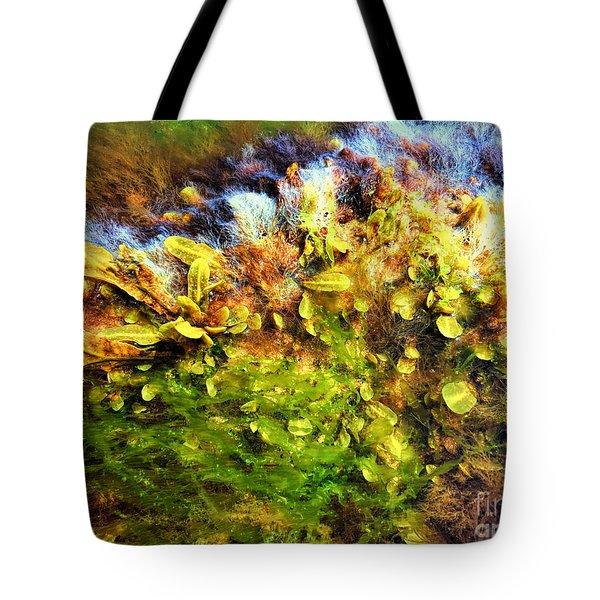 Seaweed Grunge Tote Bag
