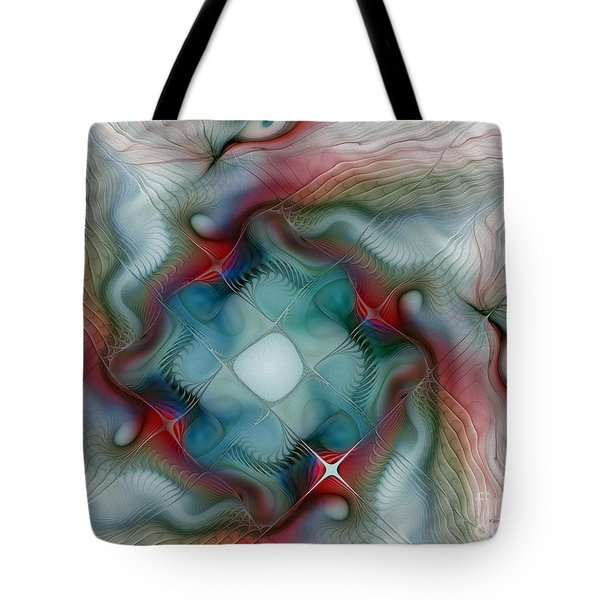 Tote Bag featuring the digital art Seaworld by Karin Kuhlmann