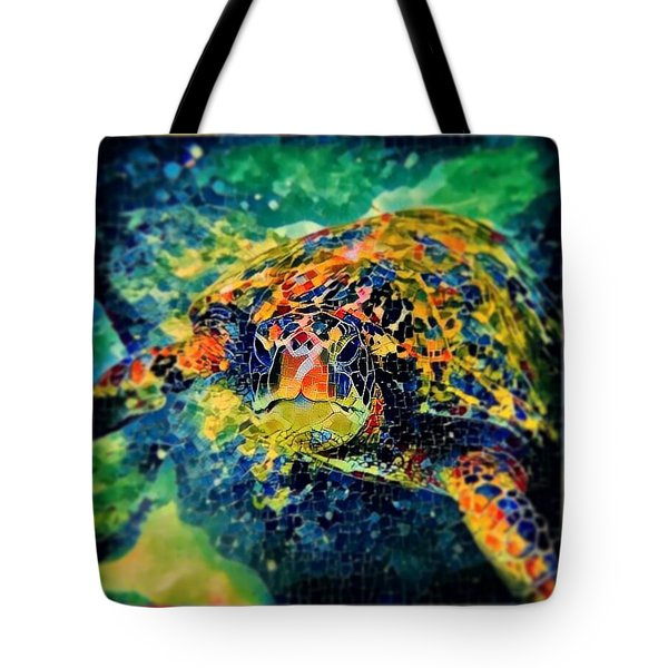 Sebastian The Turtle Tote Bag