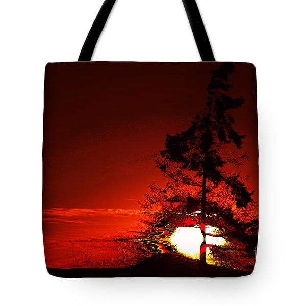 Sechelt Tree 3 Tote Bag by Elaine Hunter