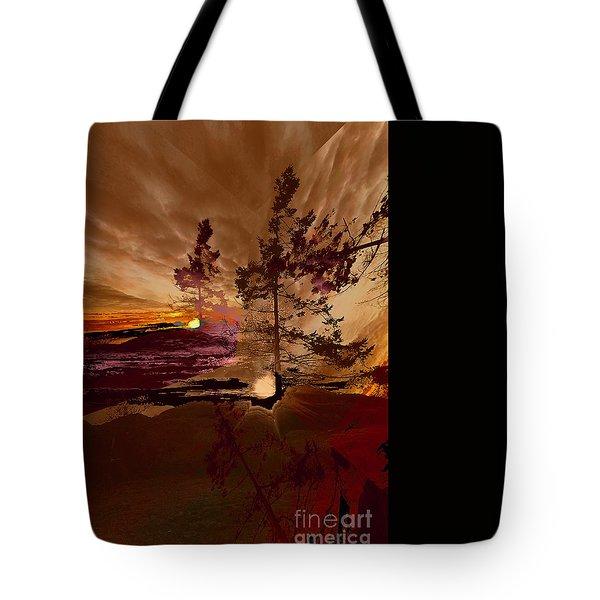 Sechelt Tree 5 Tote Bag by Elaine Hunter