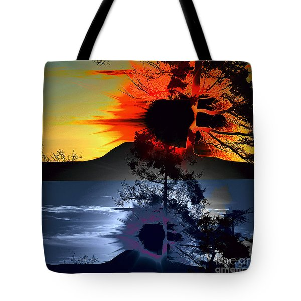 Sechelt Tree Sun And Moon Tote Bag by Elaine Hunter