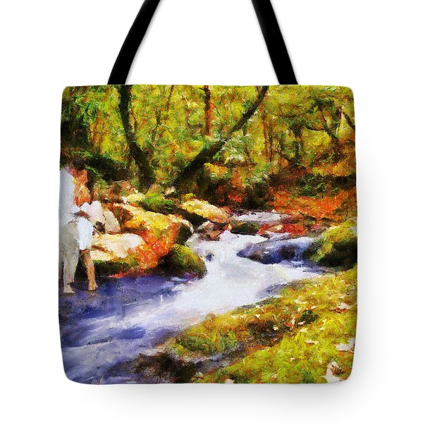 Secluded Stream Tote Bag by Jai Johnson