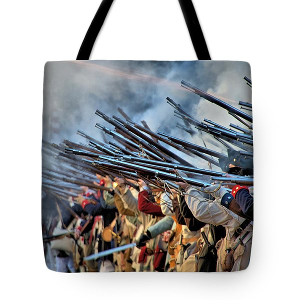 Tote Bag featuring the photograph Second Battle Of Trenton by Steven Richman