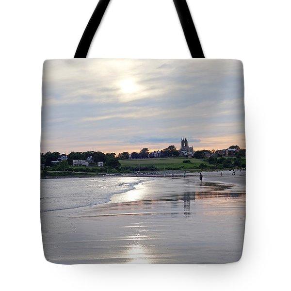 Second Beach Newport Ri Tote Bag