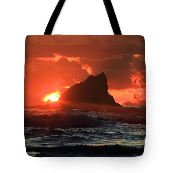 Second Beach Shark Tote Bag
