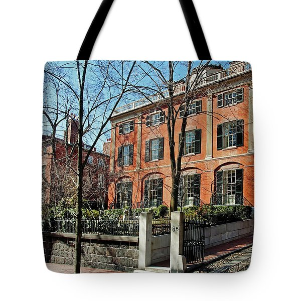 Tote Bag featuring the photograph Second Harrison Gray Otis House  by Wayne Marshall Chase