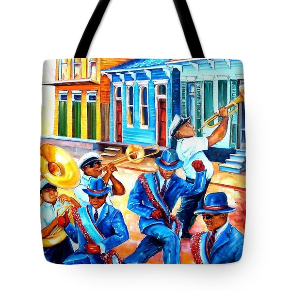 Second Line In Treme Tote Bag
