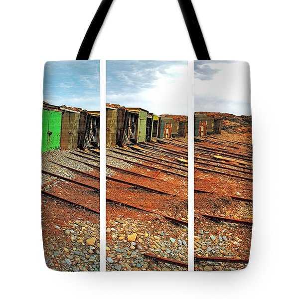 Tote Bag featuring the photograph Second Valley Boat Sheds by Stephen Mitchell