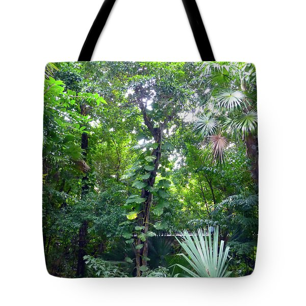 Tote Bag featuring the photograph Secret Bridge In The Tropical Garden by Francesca Mackenney