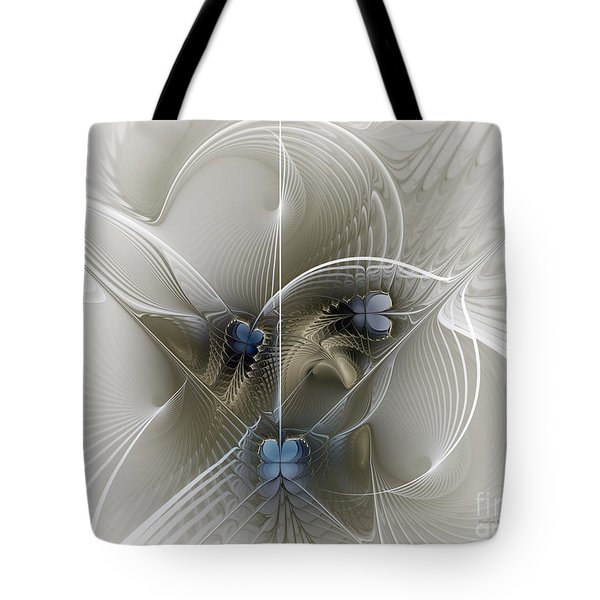Tote Bag featuring the digital art Secret Chambers by Karin Kuhlmann