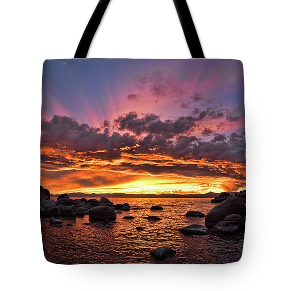 Secret Cove Sunset Tote Bag
