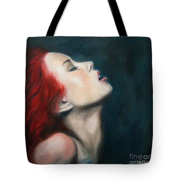 Tote Bag featuring the painting Secret Darling by Jindra Noewi
