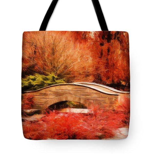 Secret Footbridge Tote Bag