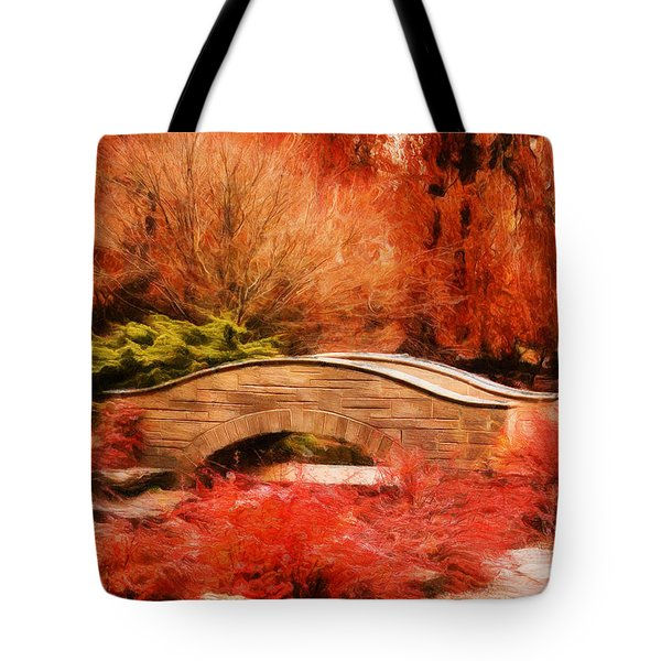 Secret Footbridge Tote Bag