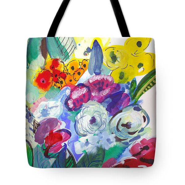 Secret Garden With Wild Flowers Tote Bag