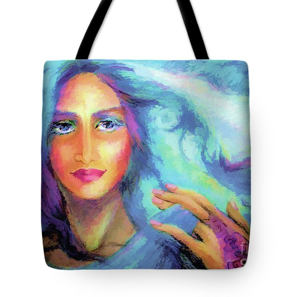 Secret In Blue Tote Bag