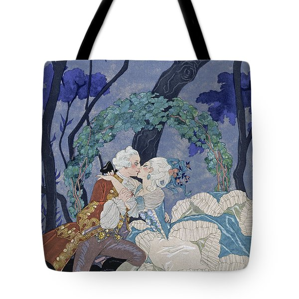 Secret Kiss Tote Bag by Georges Barbier