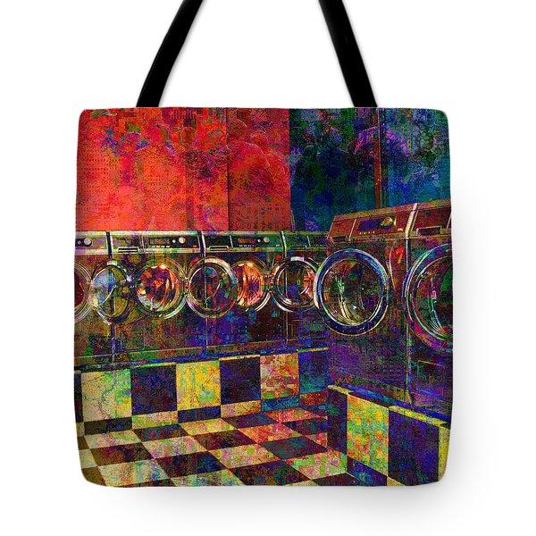Secret Life Of Laundromats Tote Bag