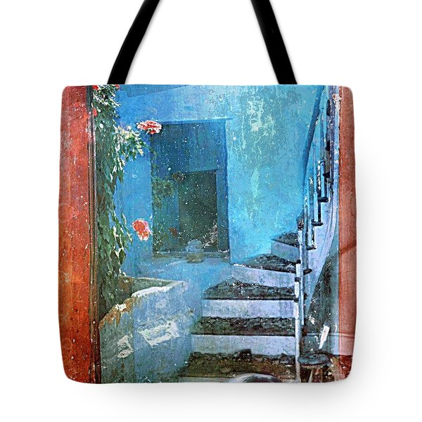 Tote Bag featuring the digital art Secret Space by Alexis Rotella