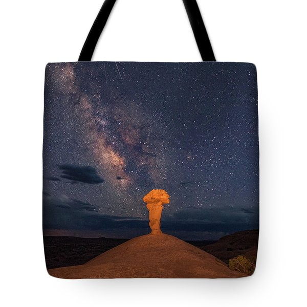 Secret Spire And The Milky Way Horizontal Tote Bag