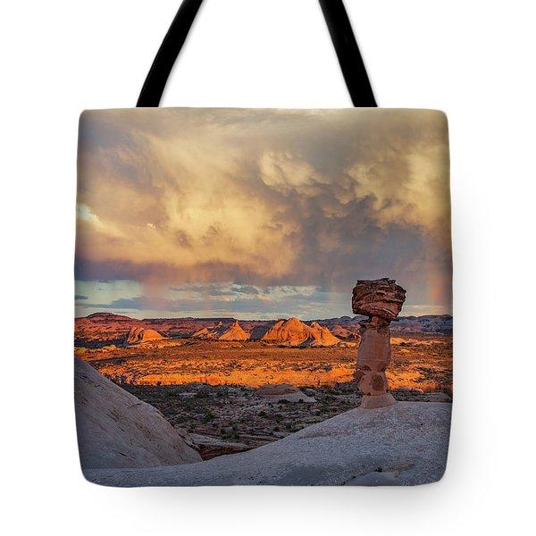 Secret Spire Sunset 1 Tote Bag