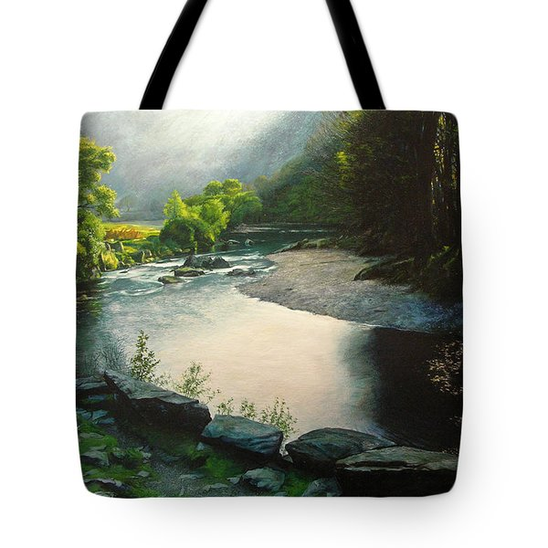 Tote Bag featuring the painting Secret Valley by Harry Robertson