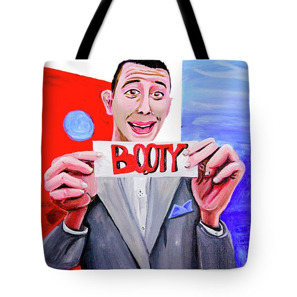 Tote Bag featuring the painting Secret Word - Booty by eVol i