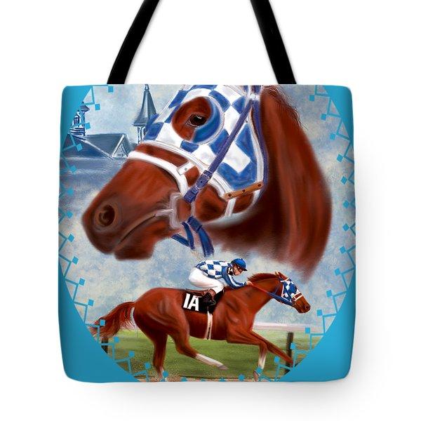 Secretariat Racehorse Portrait Tote Bag