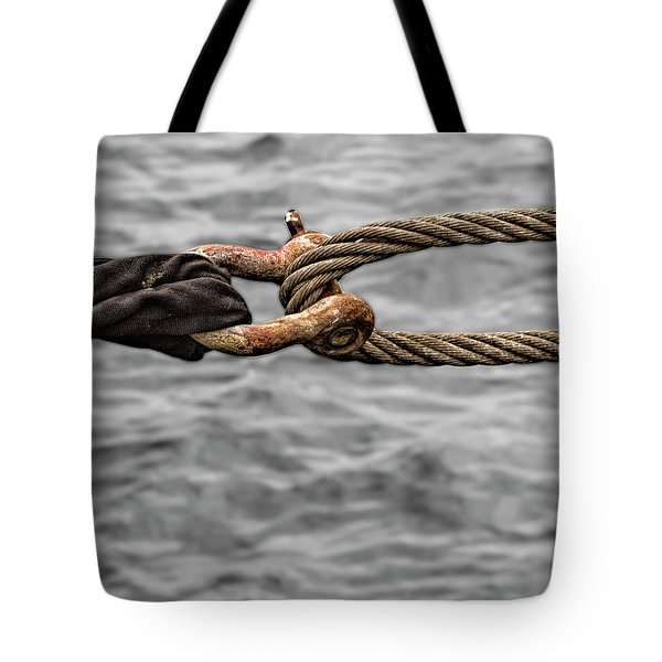 Secured To Wharf Tote Bag