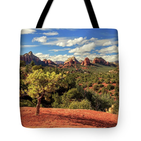 Sedona Afternoon Tote Bag by James Eddy