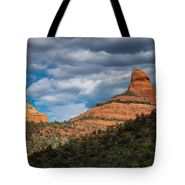 Tote Bag featuring the photograph Sedona Cloudy Day by Ross Henton