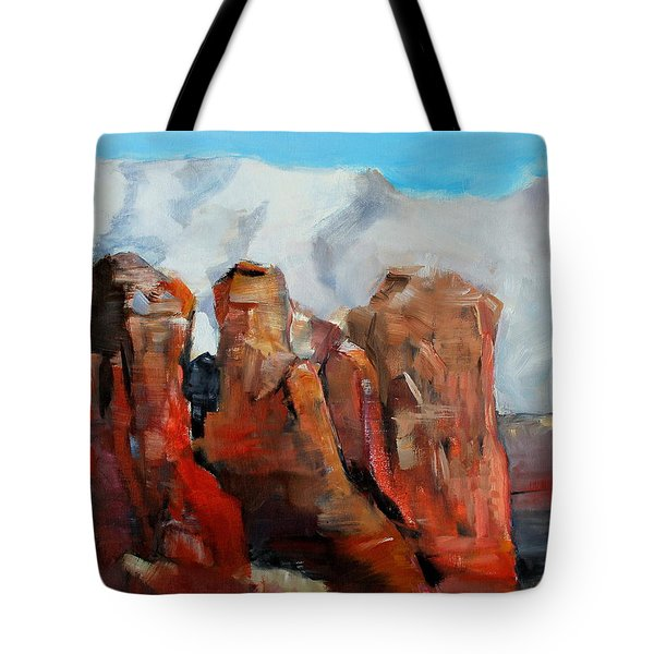 Sedona Coffee Pot Rock Painting Tote Bag