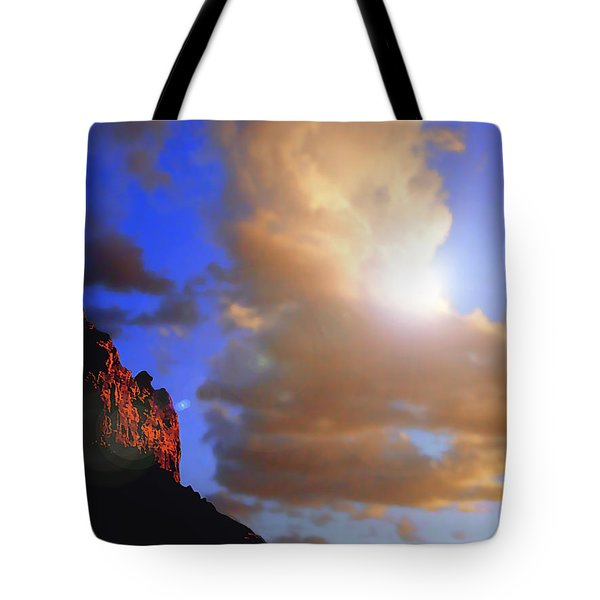 Sedona Mountain Cloud Sun Tote Bag
