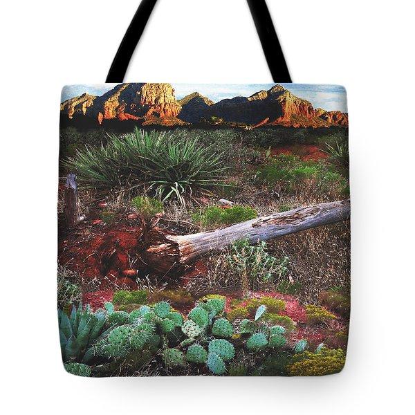 Sedona Mountain Sunrise Tote Bag