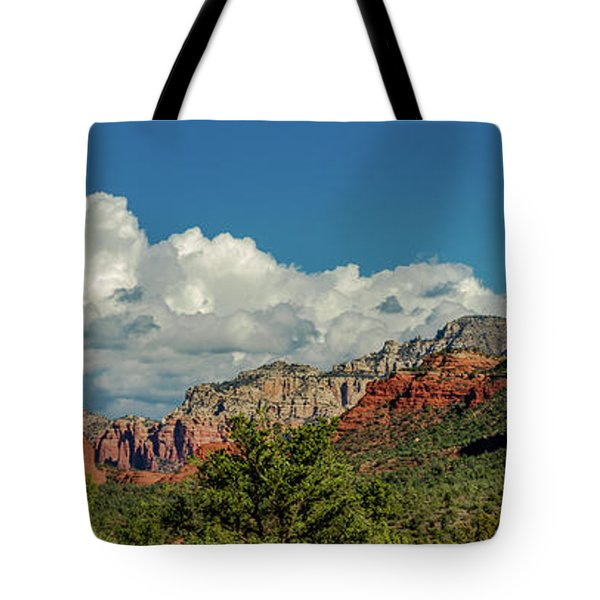 Tote Bag featuring the photograph Sedona Panoramic II by Bill Gallagher