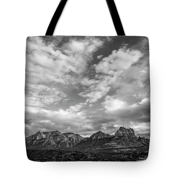 Sedona Red Rock Country Bnw Arizona Landscape 0986 Tote Bag by David Haskett