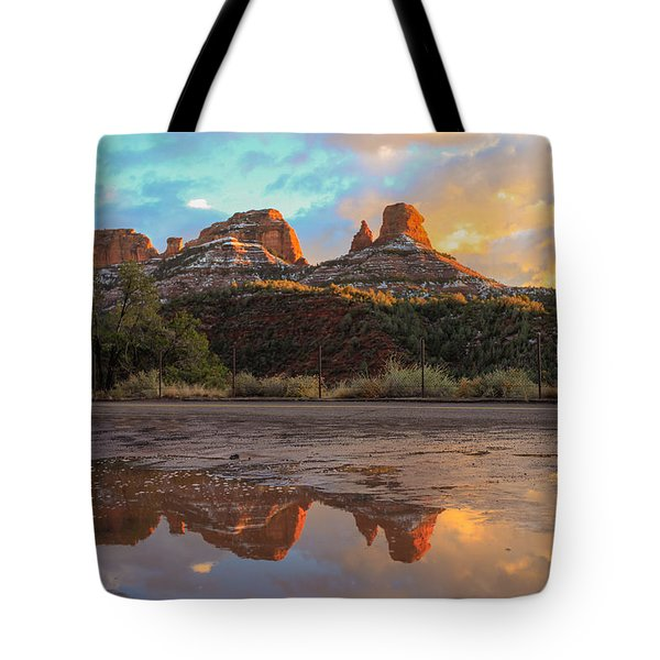 Tote Bag featuring the photograph Sedona Reflections by Robert Aycock