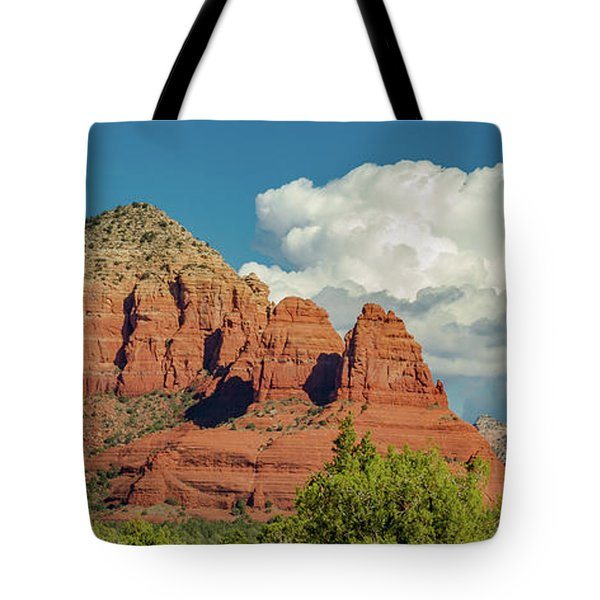 Tote Bag featuring the photograph Sedona, Rocks And Clouds by Bill Gallagher
