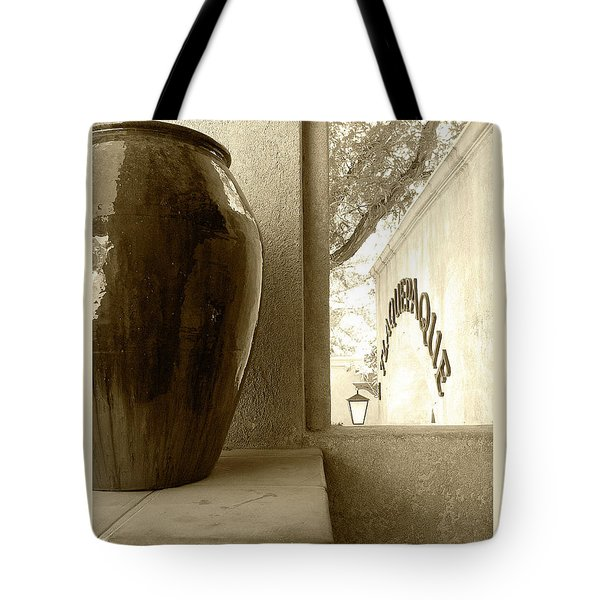 Tote Bag featuring the photograph Sedona Series - Jug And Window by Ben and Raisa Gertsberg