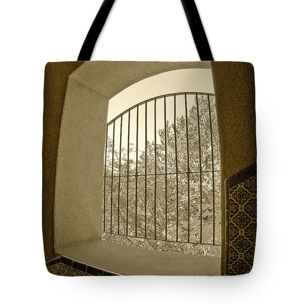 Tote Bag featuring the photograph Sedona Series - Through The Window by Ben and Raisa Gertsberg