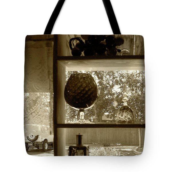 Tote Bag featuring the photograph Sedona Series - Window Display by Ben and Raisa Gertsberg