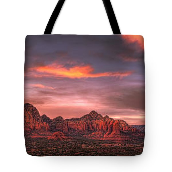 Sedona Sunset Panorama Tote Bag