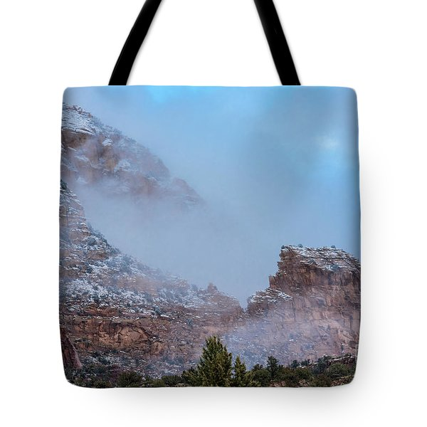 Tote Bag featuring the photograph Sedona Winter by Sandra Bronstein