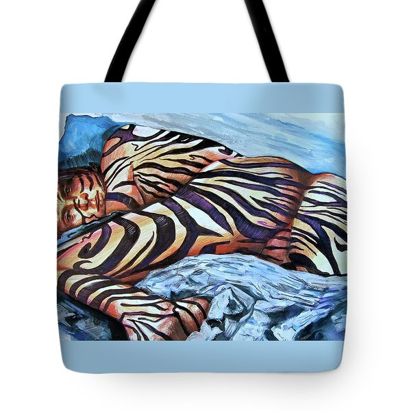 Seduction Of Stripes Tote Bag